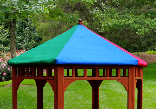 Lifesstyle view of Play-Zee-Bo Replacement Multi-Colored Tarp from  Gorilla Playsets.