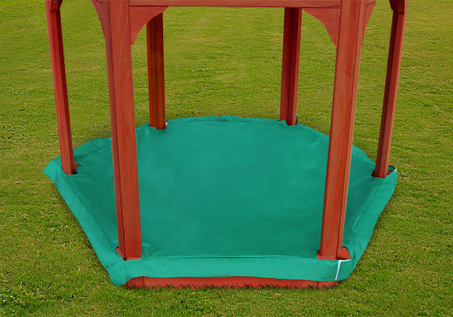 Lifestyle view of Play-Zee-Bo Replacement Sandbox Cover from Gorilla Playsets.