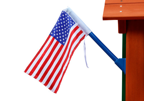 Studio view of American Flag by Gorilla Playsets.