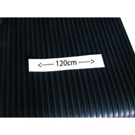 Medium spaced rib rubber mat  (1.2mtr wide)