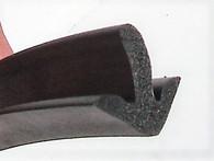 Arrow head sponge seal. glues to door frame corner
