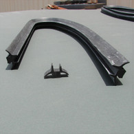 Fits into retainer channel  11mm wide and 6mm deep. Can be purchased in 1.8mtr STRAIGHT lth also Part No. 220-003
