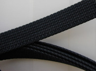 20mm flat bonnet lacing   black