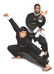 GTMA Kung-Fu Uniform, Black with White Buttons