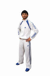 Adidas Karate Track Suit; White/Royal Blue