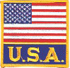 "USA Flag + USA Patch 3.5"" x 3.5"""
