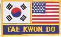 "2 Flag + TKD Patch 3"" x 5"""