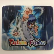 Taekwondo Theme Mouse Pad - Cartoon Kick Wind
