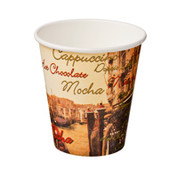 CA-SW8-CVZ 8oz Single Wall Cups Cafe Venezia