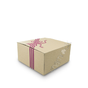 "9"" Brown Printed Cake Box HD - Purple"
