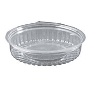 20oz 3 Compartment Showbowls with Hinged Flat Lids