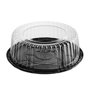 CA-CVCD075 Clearview P.E.T Cake Container Combo-Pak  - 75mm high