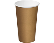 CA-SW16-BRN 16oz Castaway Single Wall Paper Cups BROWN