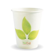 BC-8 8oz Single Wall BioCup Leaf Design