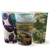BC-16-ART  16oz Single Wall BioCup Art Series