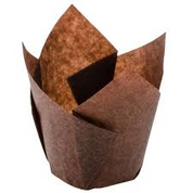 Large Muffin Liners - Chocolate