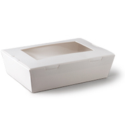 L552S0001(P9503) Large Lunch Window Boxes White