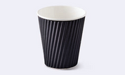 Detpak 12oz Ripple Cups Black