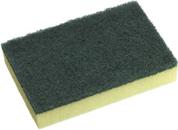 SC-110- ED Oates Yellow & Green Scourer/Sponge PK10