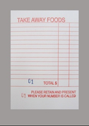 Red Takeaway Docket Books