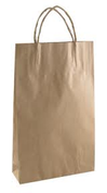 Large Paper Carry Bags with Twist Handle - Brown