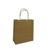 Small Paper Carry Bags with Twist Handle - Brown
