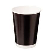 CA-DW12-BLK Castaway 12oz Double Wall Paper Cups - Black