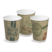 "CA-DW16CPT-JUTE Castaway 16oz Double Wall Paper Cups ""Jute"""