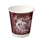 """CA-DW8-CM 8oz Castaway Double Wall Paper Cups """"Cafe Montmarte"""""""