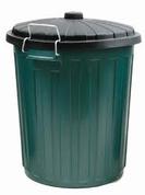 75Lt Plastic Green Bin & Lid