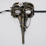 Steampunk Plague Doctor Masquerade Mask Gold M39029G