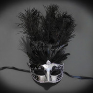 Darker Collection | Classic Feather Masquerade Mask