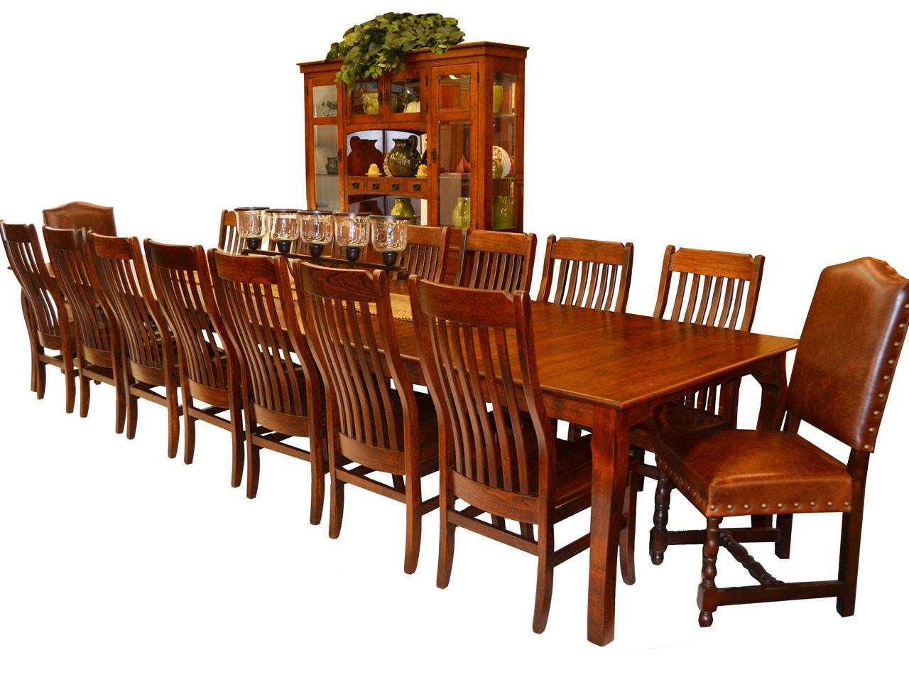 T03 48x96 Dining Table 14 Ft Vintage Oak
