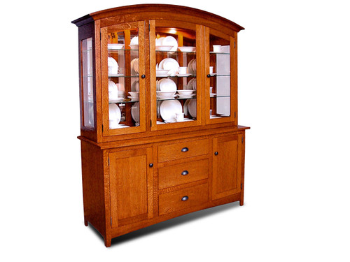 HS8500 Carriagehouse China Hutch and Server