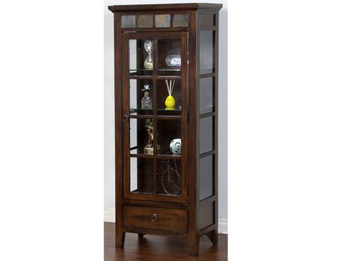 curio cabinet consoles furniture living room curio cabinets vintage oak