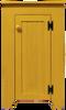 Shown in Old Mustard with a beadboard door