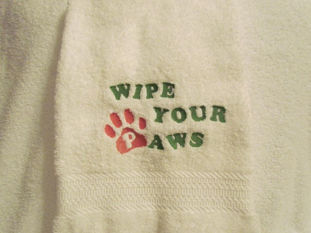 Dog Towel - Wipe Your Paws (Plush)