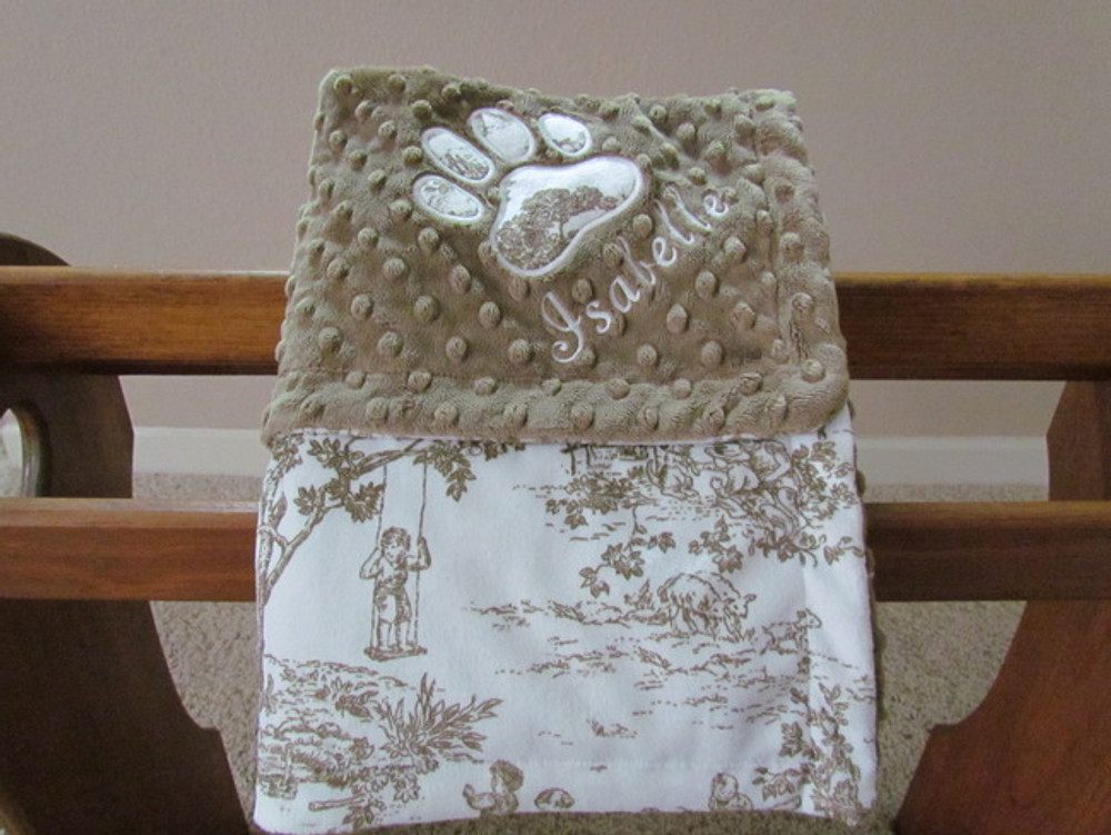 Blankets - Ultra Soft Minky(30 x 40), embroidered