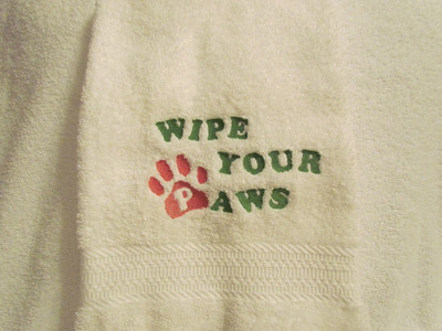 Dog Towel - Wipe Your Paws (Plush)