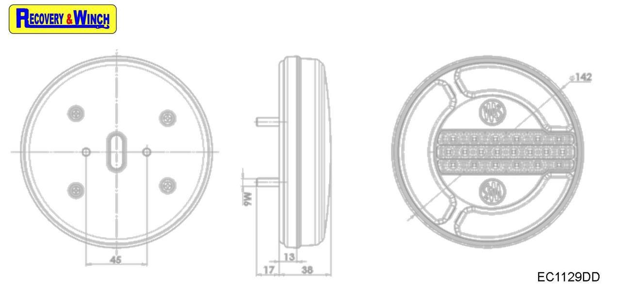 EC1129DD Dimensions