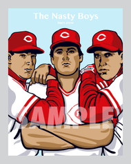 """Digital Illustration of """"The Nasty Boys"""" - one of the most feared group of relief pitchers for the Cincinnati baseball team!"""