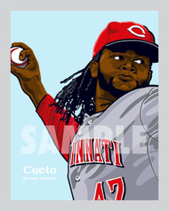 Digital Illustration of fan favorites and great pitcher Johnny Cueto!