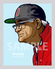 Digital Illustration of Woody Hayes - one of the All-Time College Gridiron Greats!