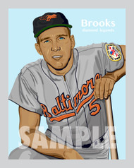 Digital Illustration of Brooks Robinson – Hall of Famer and one of the All-Time great Diamond Legends of baseball!