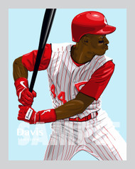 Digital Illustration of one of the Cincinnati's All-Time Greats Eric Davis!