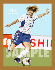 Digital Illustration of one of the greatest U.S. woman's soccer players ever, Mia Hamm!