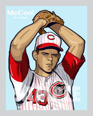 Digital illustration of one of the All-Time Cincinnati greats, pitcher Billy McCool!