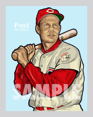 Digital illustration of one of the All-Time Cincinnati Baseball Team greats, Wally Post.