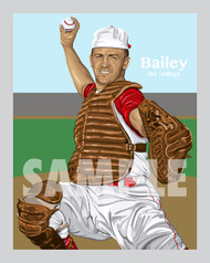 Digital Illustration of one of Cincinnati's All-Time Greats Ed Bailey!