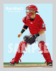 Digital Illustration of Tucker Barnhart - one of rising stars from The New Machine!